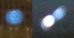 speeding blue orbs
