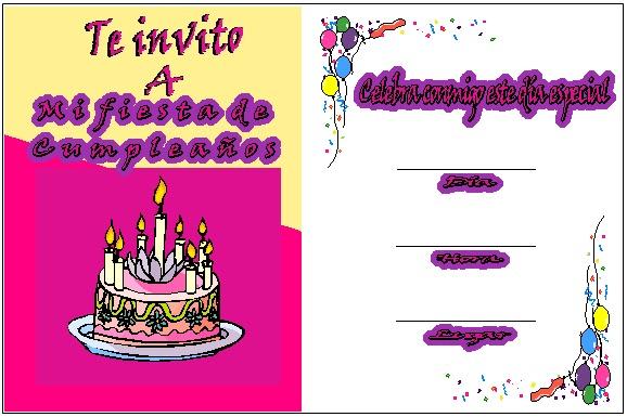 Tarjetas De Invitación A Mi Cumpleaños Imagui