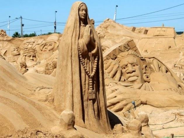 Criatividade I Esculturas de areia