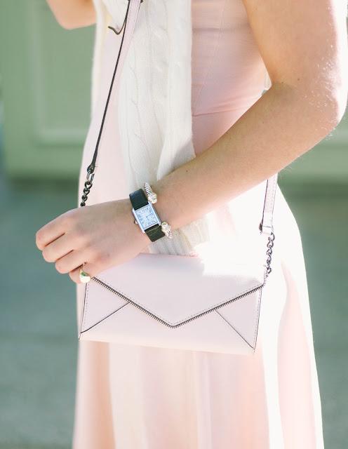 Cartier Tank Watch and Rebecca Minkoff handbag with David Yurman Cable Cuff