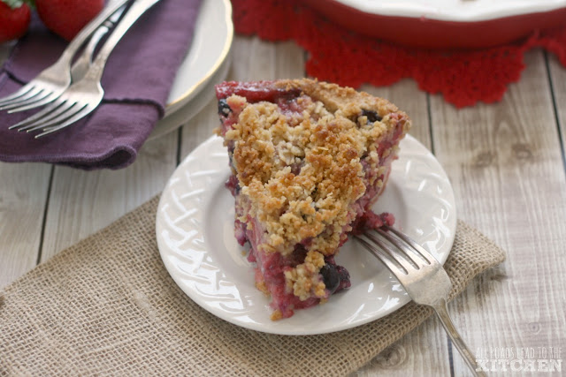 Mixed Berry Crumb Pie with an All-Butter Press-In Crust