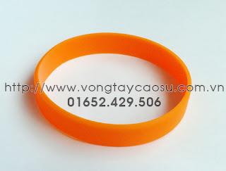 Vòng tay trơn màu cam