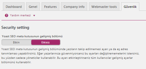 Yoast Seo WordPress Ayaları