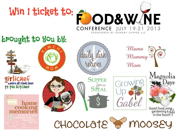 Food and Wine Conference ticket giveaway | www.girlichef.com
