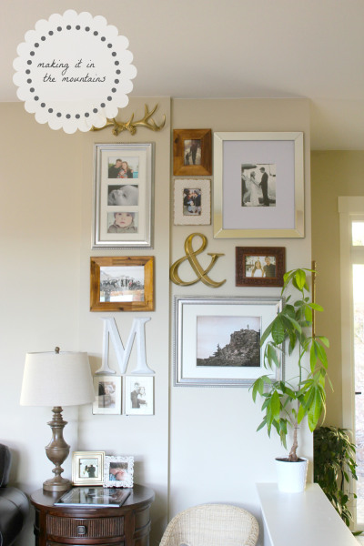1+diy gallery wall making it in the mountains101 Fun Home Decor Projects 39