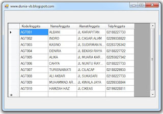 Koneksi Database Access (mdb) Dengan VB .Net