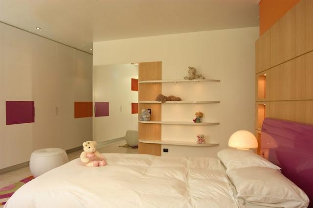 Dormitorio juvenil en naranja y crema para chicas karim chaman - Habitaciones color naranja ...