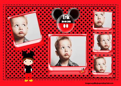 Marco de fotos disney mickey mouse para imprimir