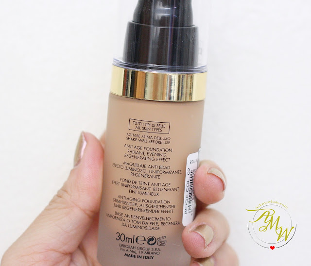 a photo of Deborah Milano DD Daily Dream Anti Age Foundation Review