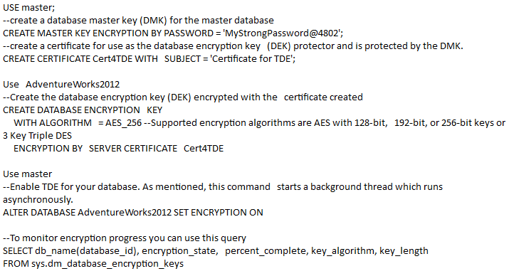 Know About Transparent Data Encryption (TDE) in SQL Server
