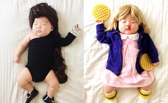 इंटरनेट पर खूब देखी जा रही इस सोती हुई बच्ची की तस्वीरें