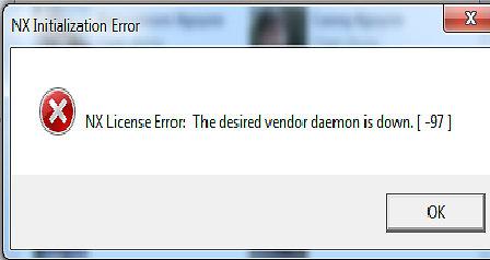 Hướng dẫn khắc phục lỗi NX license error [-97] [-96] [-15] [10004]
