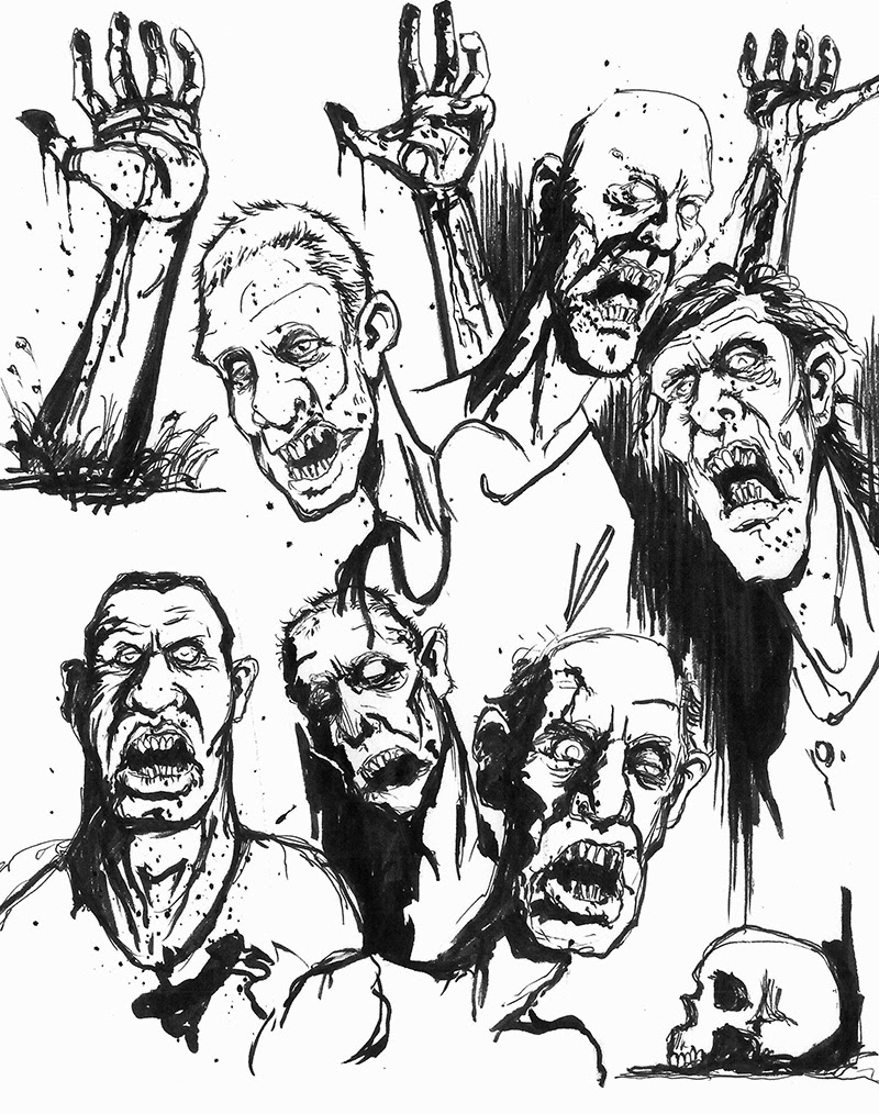 ian ruff bloggity blog blog zombie sketches 4 days until