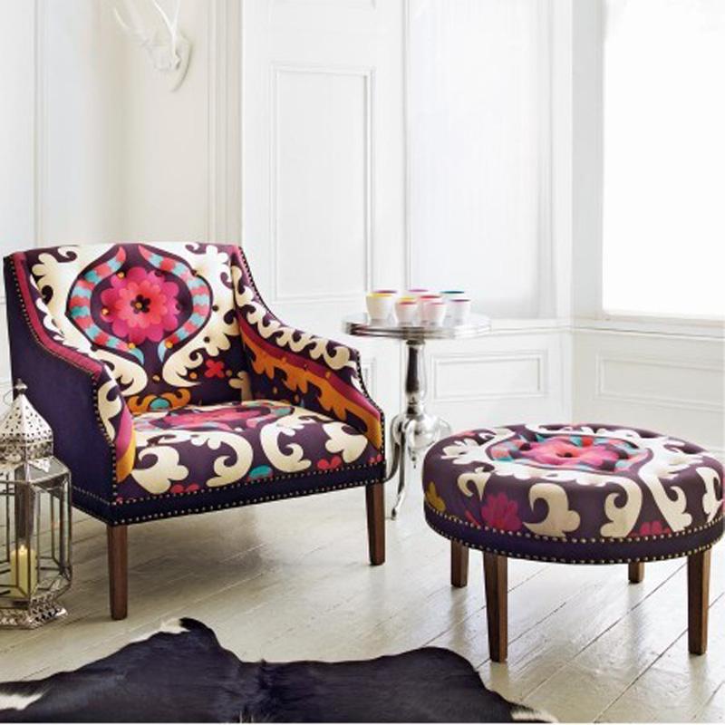 Small world of design dodatki i wyposa enie kolorowy fotel - Telas para tapizar sillones modernos ...