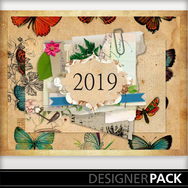 Digital Scrapbooking Template Calendar