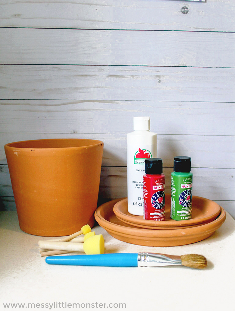 How to make a flower pot toadstool from a clay terra cotta pot