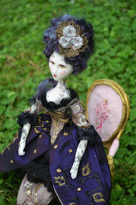 Marie antoinette doll hand made tatoos- etsy boutique