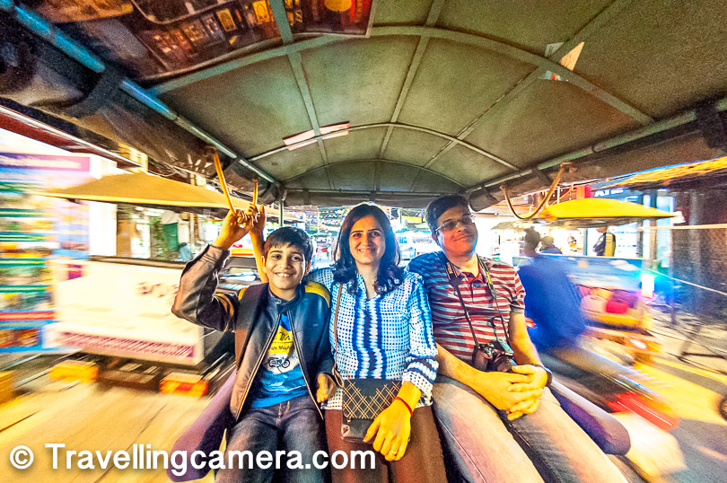 Tuk-Tuks were the convenient and reasonable mode of commutation. Nishu enjoyed them thoroughly.