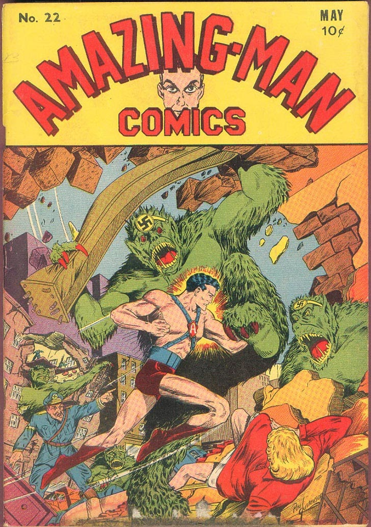 Read online Amazing Man Comics comic -  Issue #22 - 1