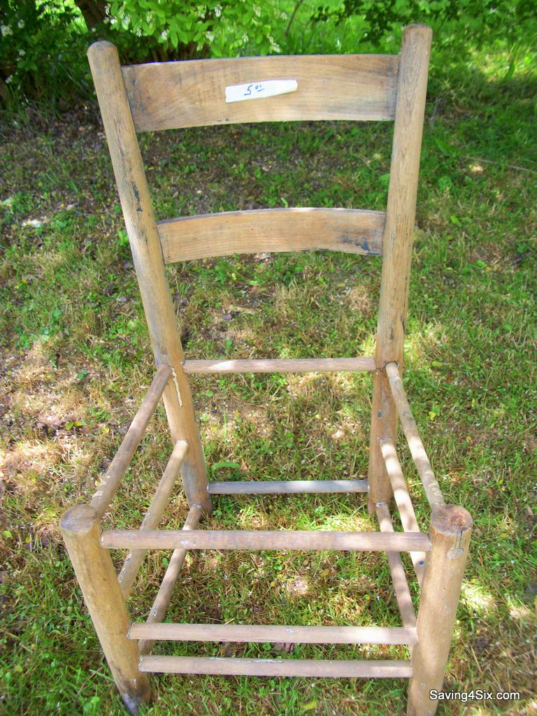 Rustic Chair Planter
