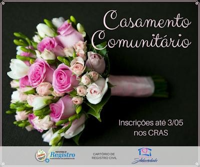 Prefeitura de Registro-SP abre inscrições para Casamento Comunitário