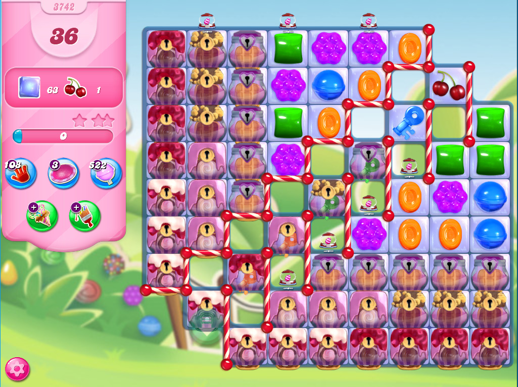 Candy Crush Saga level 3742