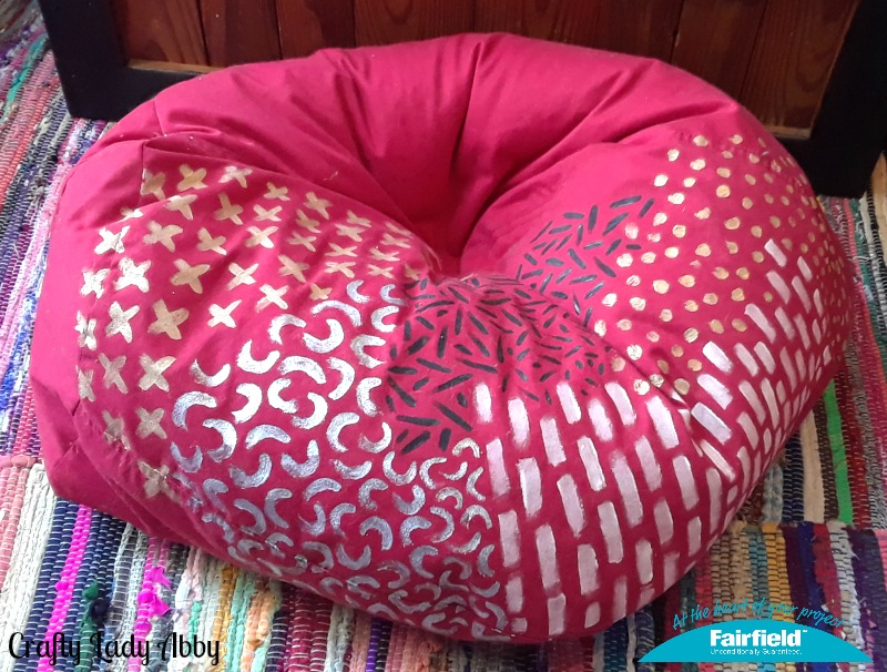 HOME DECOR DIY Painted And Refilled Bean Bag Chair