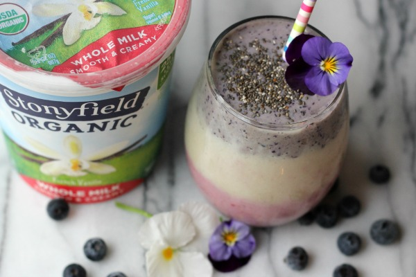 Layered Fruit and Yogurt Smoothie