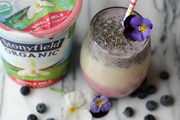 Layered Fruit and Yogurt Smoothie