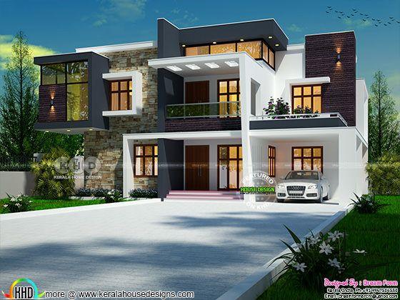 Beautiful 2911 sq-ft contemporary Kerala house design