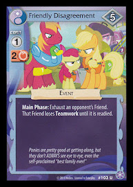 My Little Pony Friendly Disagreement The Crystal Games CCG Card