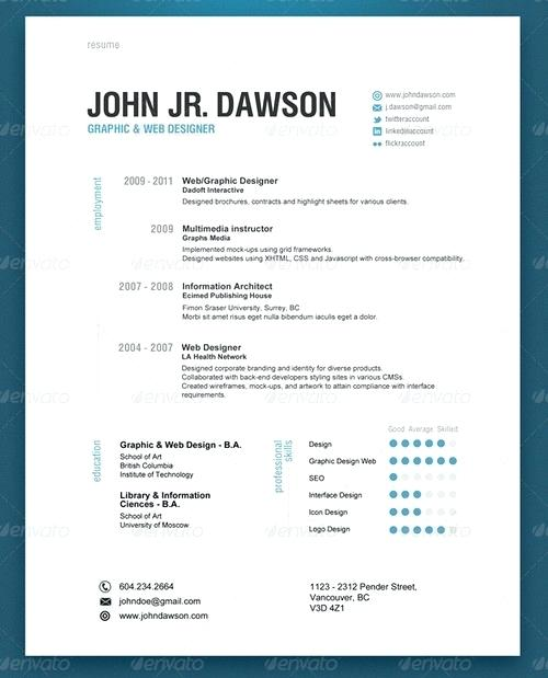 modern resume example
