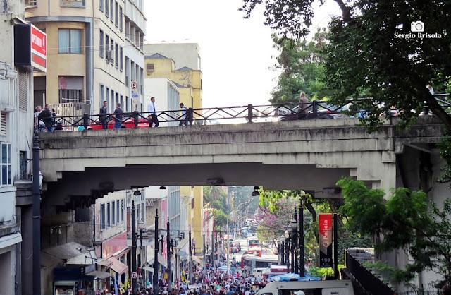 Vista ampla do Viaduto Boa Vista - Centro - São Paulo