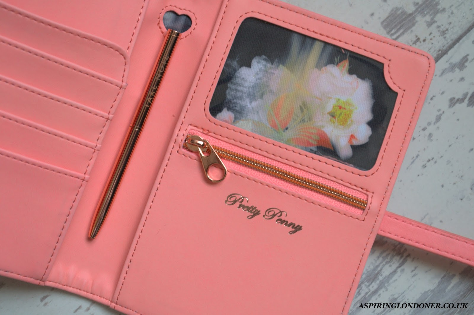 5782823a2 It has a little rose gold pen inside to take notes too