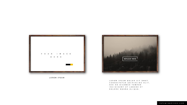 Realistic Wooden Photo Frame Mockup for PowerPoint Type C