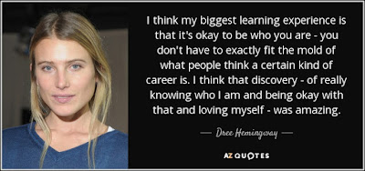 Learning to love Quotes with messages: I think my biggest learning experience is that it's okay to be who you are you don't have to exactly fit the mold of what people think a certain kind of career is.