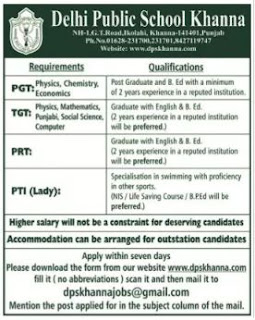 dps-khanna-PGT-TGT-Teachers-recruitment