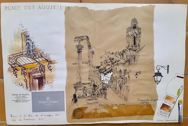 urban sketchers aix en provence 2018
