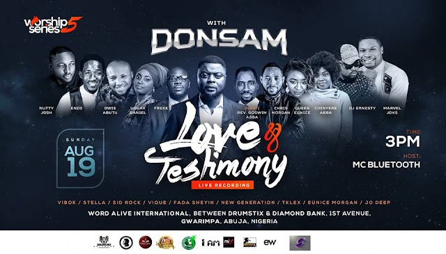 Worship Series 5 with Donsam | Love and Testimony | 19th August | @donsamonline