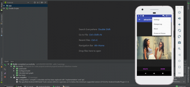 Source Code Project Android Studio Native Slide Show Application
