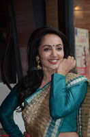 Tejaswi Madivada looks super cute in Saree at V care fund raising event COLORS ~  Exclusive 002.JPG