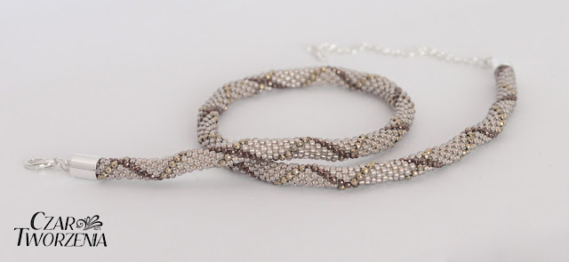 toho 11o Gold Lined Cystal sznur szydełkowo koralikowy