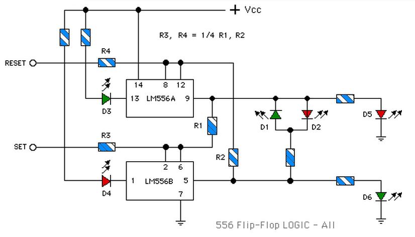 lm556 flip flop truth table electronic circuit rh elcircuit com