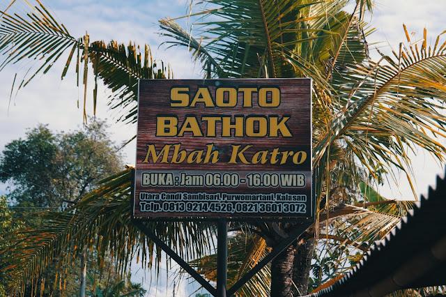 Mendapatkan Sesuatu yang Bening di Saoto Bathok Mbah Katro