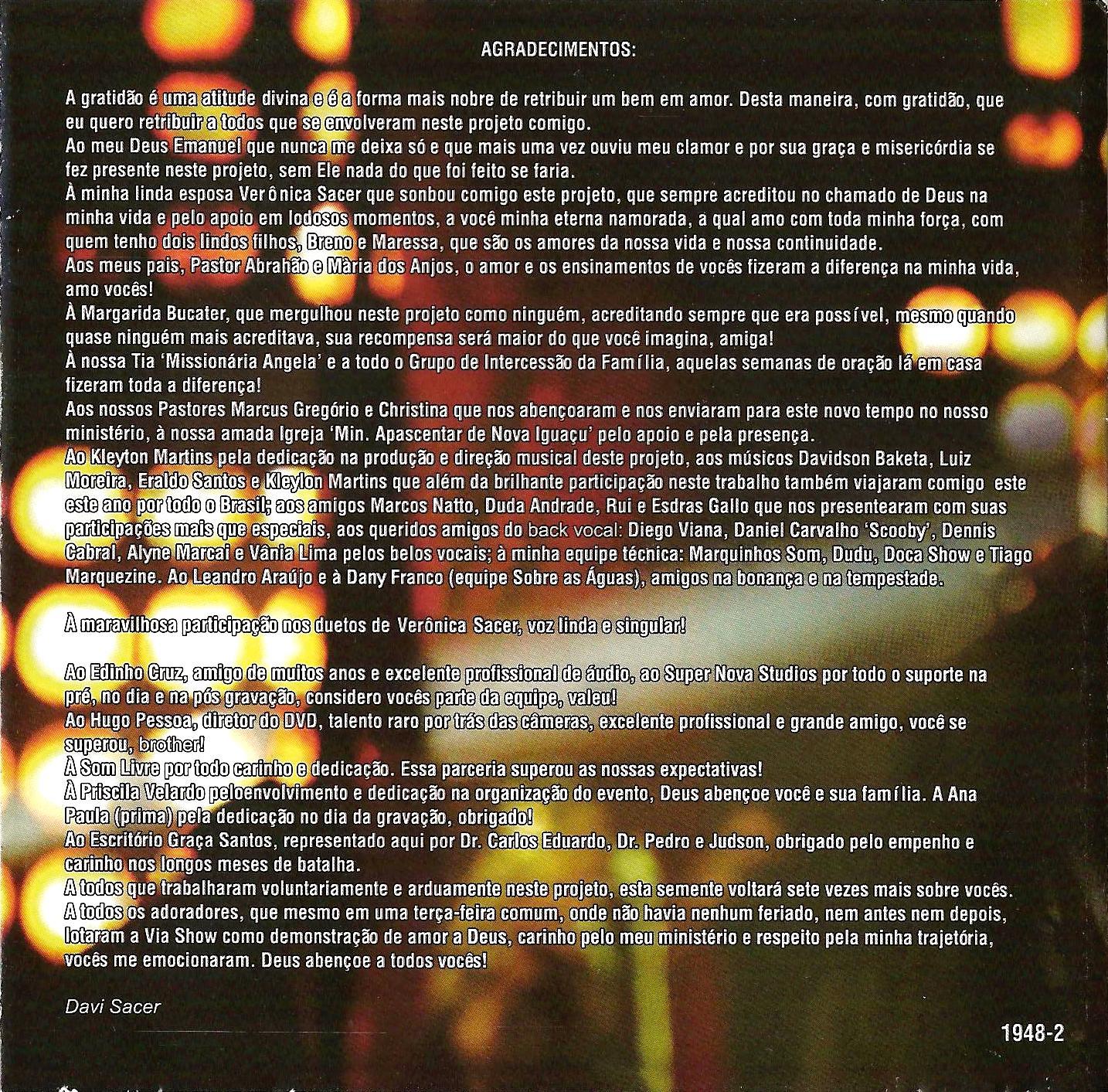 COMPLETO SACER MILAGRE CAMINHO BAIXAR DVD DAVI