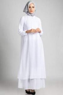 Baju Muslim Warna Putih Untuk Wanita