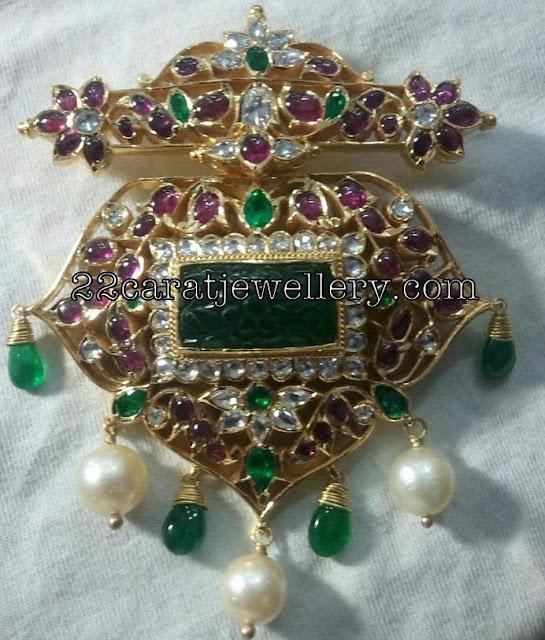 Pota Ruby Emerald Pendant