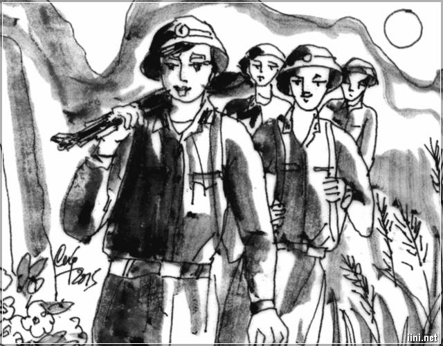 Tranh vẽ bộ đội cụ Hồ