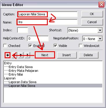 Cara Membuat Program Menu Utama Dengan Menu Editor Pada Visual Basic 6.0