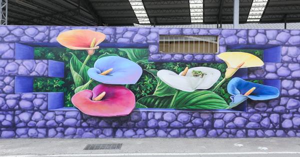 《台中.后里》舊社里「花現幸福」3D互動式彩繪-超過20幅結合在地人文風俗的生動彩繪